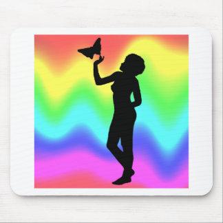 Woman2 RainbowMelt Mousepads