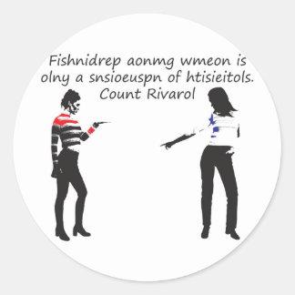 woman2 round stickers