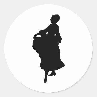Woman4 Pegatina Redonda
