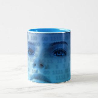 woman-163426 SCIENCE-FICTION ALIEN LIFEFORMS woman Two-Tone Coffee Mug