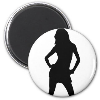Woman 5 2 inch round magnet