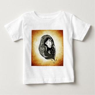 woman-7627hair-abstract-nice-kind baby T-Shirt