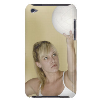 Woman about to serve volleyball iPod touch Case-Mate case