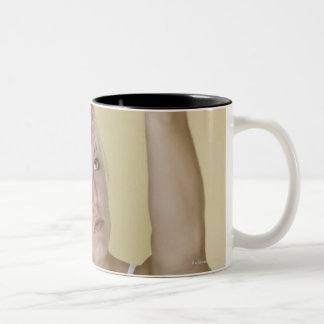 Woman about to serve volleyball coffee mugs