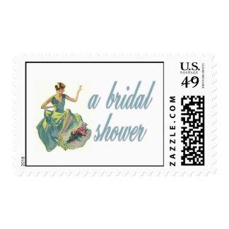 Woman Admiring Ring Shower Stamp