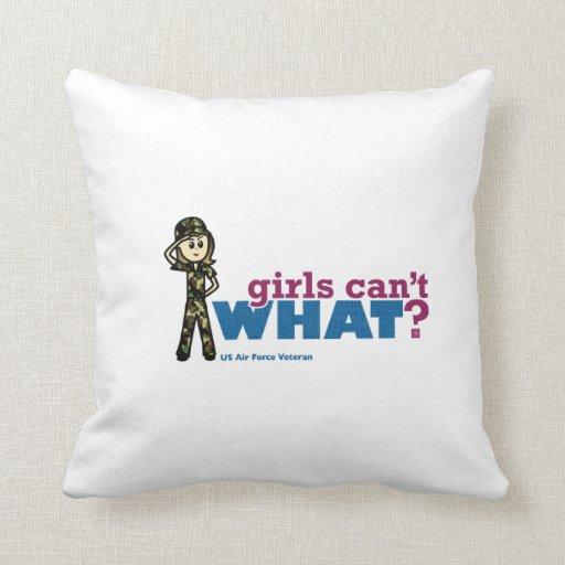 Woman Air Force Veteran Pillow