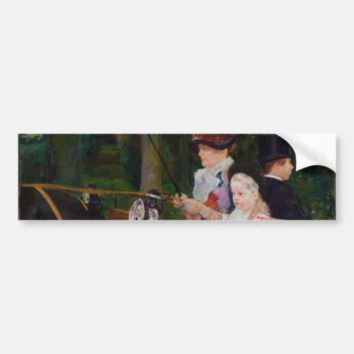 Woman and a Girl Driving by Mary Cassatt Bumper Sticker
