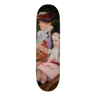 Woman and a Girl Driving by Mary Cassatt Skateboard Deck