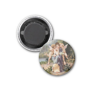 Woman and angels magnet
