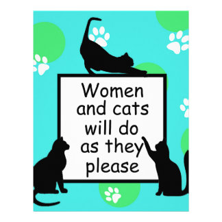 Woman and Cats will do as they Please Letterhead