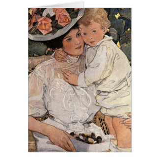 Woman and Child Card