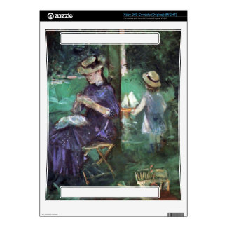 Woman and child in Garden by Berthe Morisot Decals For Xbox 360