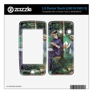 Woman and child in Garden by Berthe Morisot Decals For LG Rumor Touch