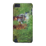 Woman and child in garden in Bougival by Morisot iPod Touch (5th Generation) Case
