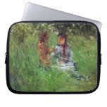 Woman and child in garden in Bougival by Morisot Computer Sleeve