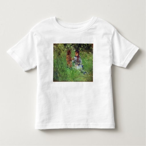 Woman and child in garden in Bougival by Morisot Tshirt