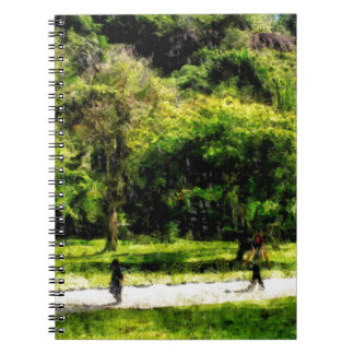 Woman and child notebook