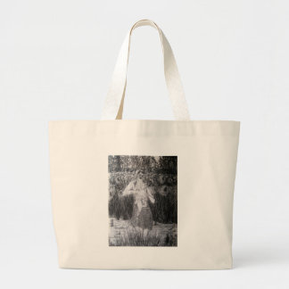 Woman and Child with Sunflowers Canvas Bags