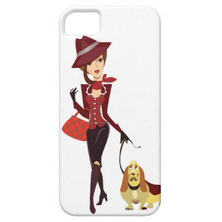 Woman and dog iPhone cover
