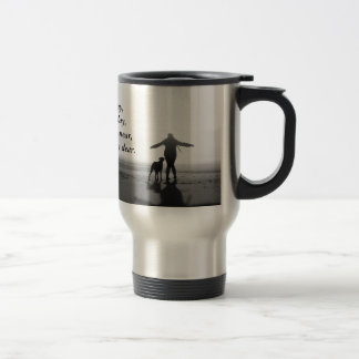 Woman and Dog - The Only Ones in the World 15 Oz Stainless Steel Travel Mug