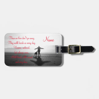 Woman and Dog - The Only Ones in the World Bag Tag