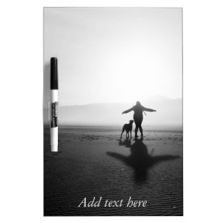 Woman and Dog - The Only Ones in the World Dry-Erase Board