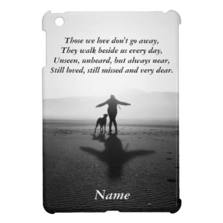 Woman and Dog - The Only Ones in the World iPad Mini Case