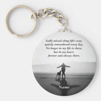 Woman and Dog - The Only Ones in the World Keychain