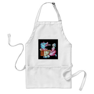 Woman and Fire Breathing Dragon Vintage Adult Apron