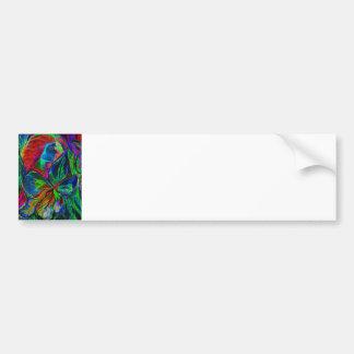 Woman and Flower, Deep Colours (m4sol) Car Bumper Sticker