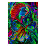 Woman and Flower, Deep Colours (m4sol) Large Business Cards (Pack Of 100)