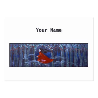 Woman and Forest Animal Spirits Business Card