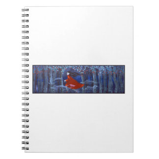 Woman and Forest Animal Spirits Spiral Notebook
