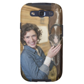 Woman and horse galaxy s3 case
