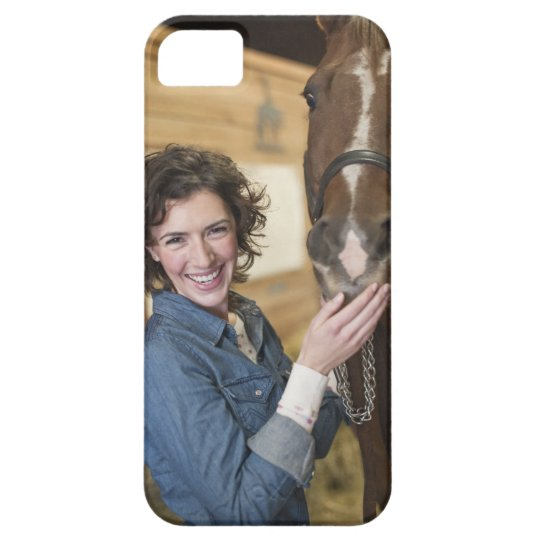 Woman and horse iPhone SE/5/5s case