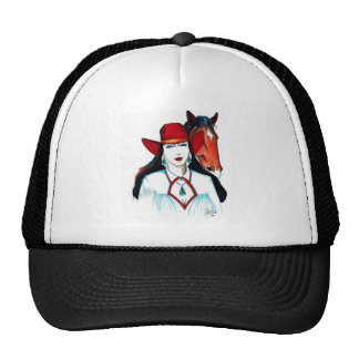 Woman and Horse Trucker Hat