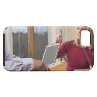 Woman and man signing the word 'Envelope' in iPhone 5 Case