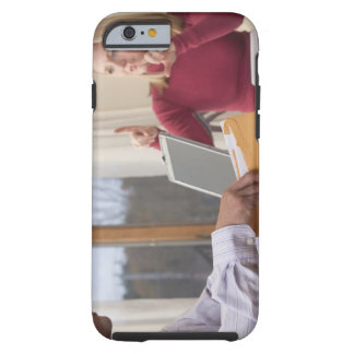 Woman and man signing the word 'Envelope' in Tough iPhone 6 Case