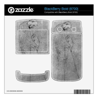 Woman and man standing in profile by Gustav Klimt BlackBerry Decals
