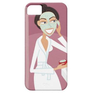 Woman applying facial mask iPhone SE/5/5s case