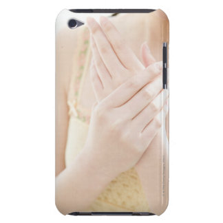Woman Applying Hand Care Cream Barely There iPod Case