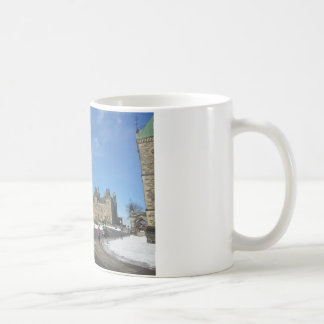 Woman at Canadian Parliament in Ottawa Classic White Coffee Mug
