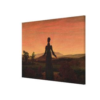 Woman at dawn canvas print