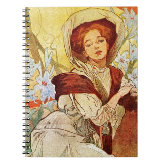Woman At Easter Spiral Notebook