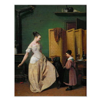 Woman at her Toilet, 1835 Poster
