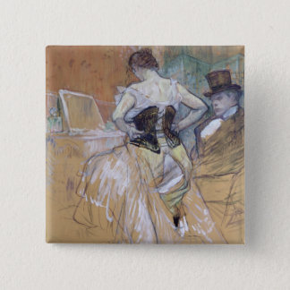 Woman at her Toilet, study for 'Elles', c.1896 Pinback Button