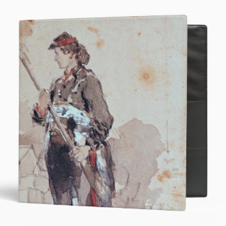 Woman at the Hotel de Ville 3 Ring Binder