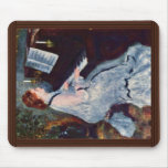 Woman At The Piano By Pierre-Auguste Renoir Mousepads