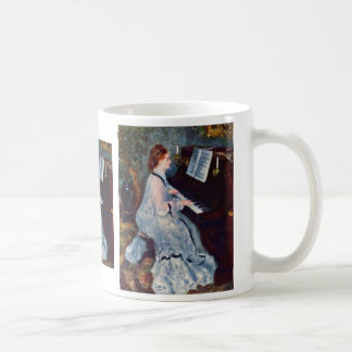 Woman At The Piano By Pierre-Auguste Renoir Mug
