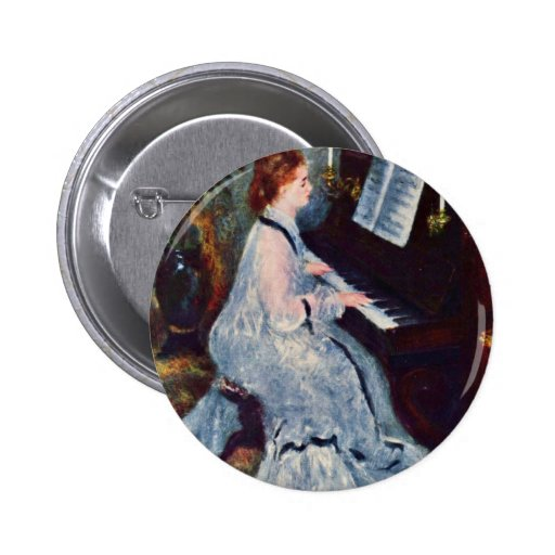 Woman At The Piano By Pierre-Auguste Renoir Pin